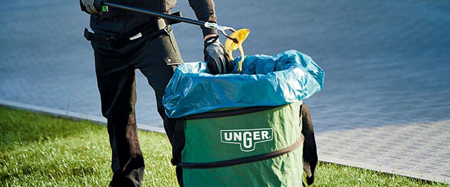 Recogida de desperdicios y útiles de agarre
