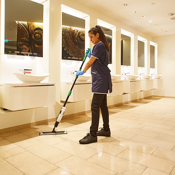 Sanitary room cleaning
