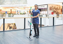 76 percent more area coverage in floor cleaning with the Unger erGO clean