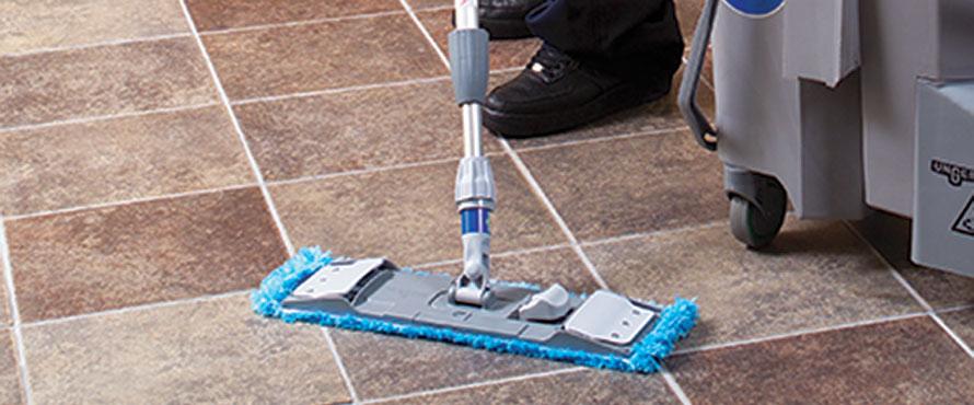 Mops microfibre & porte mop
